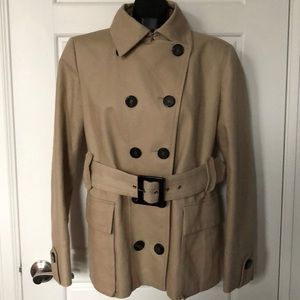 ZARA woman classic khaki belted double breasted XL